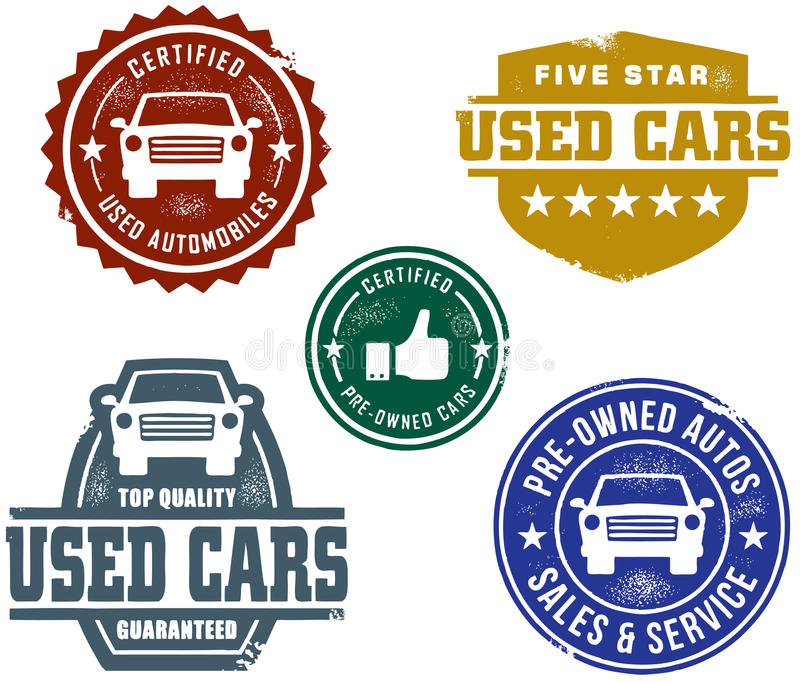 Used Car Sales Stamps royalty free illustration