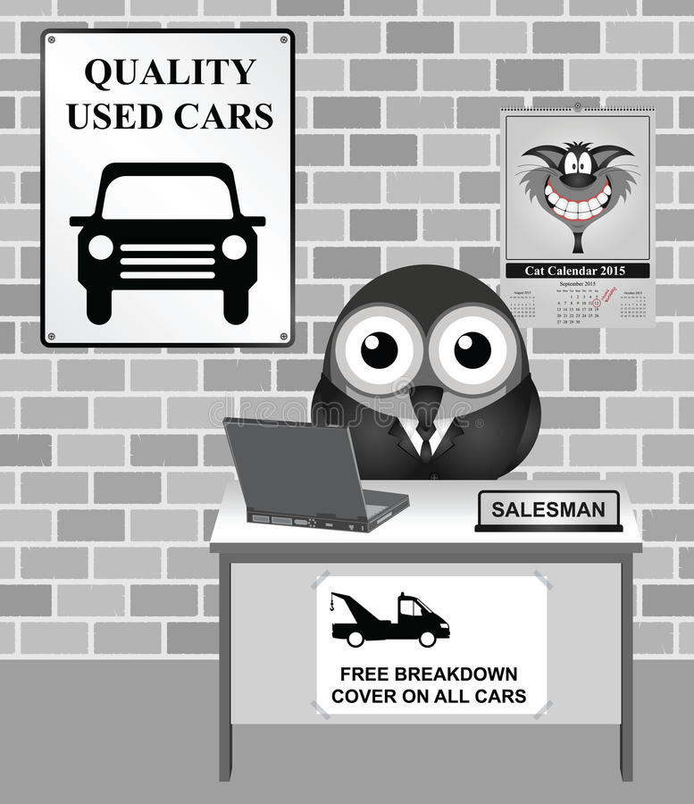 Used Car Showroom stock illustration