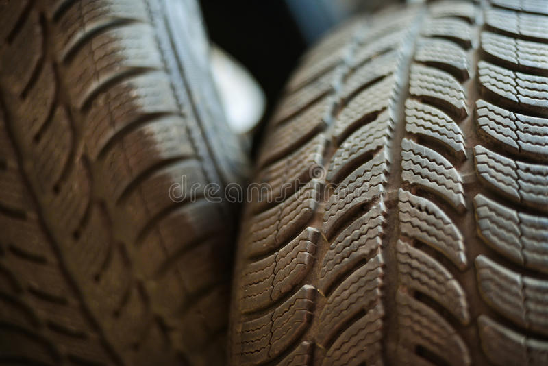 Used car tires stock photography