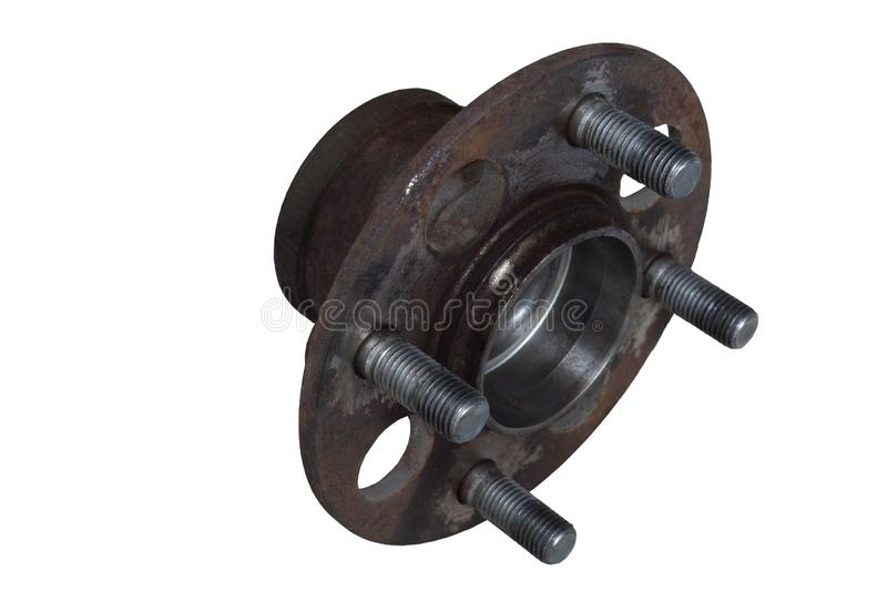 Car wheel bearings for small cars. Used of car wheel bearings for small cars. Isolate white background and clipping path royalty free stock image