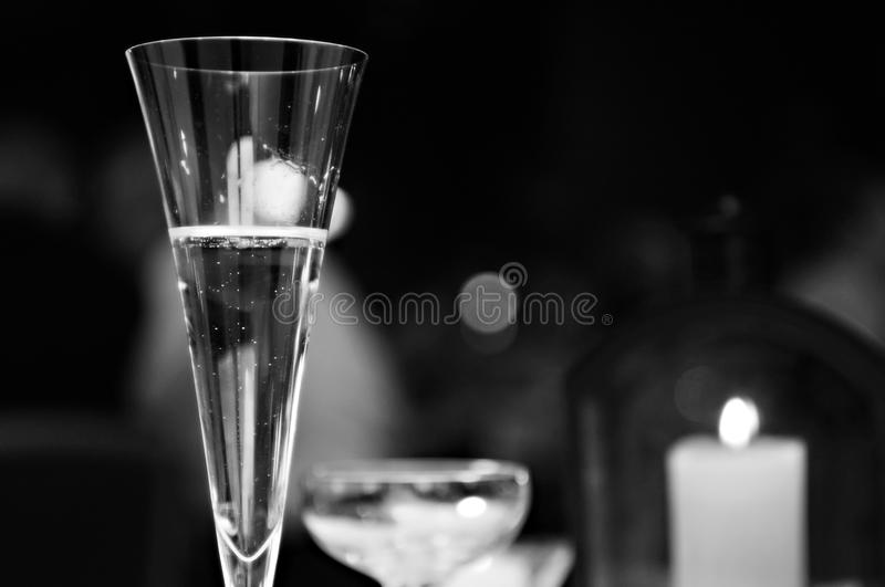 Used Champaign Flute Royalty Free Stock Image