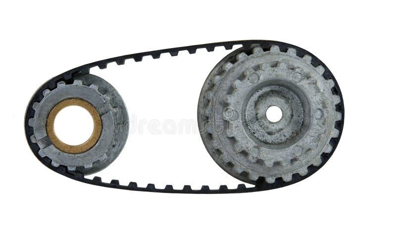 Used cogwheel with belt