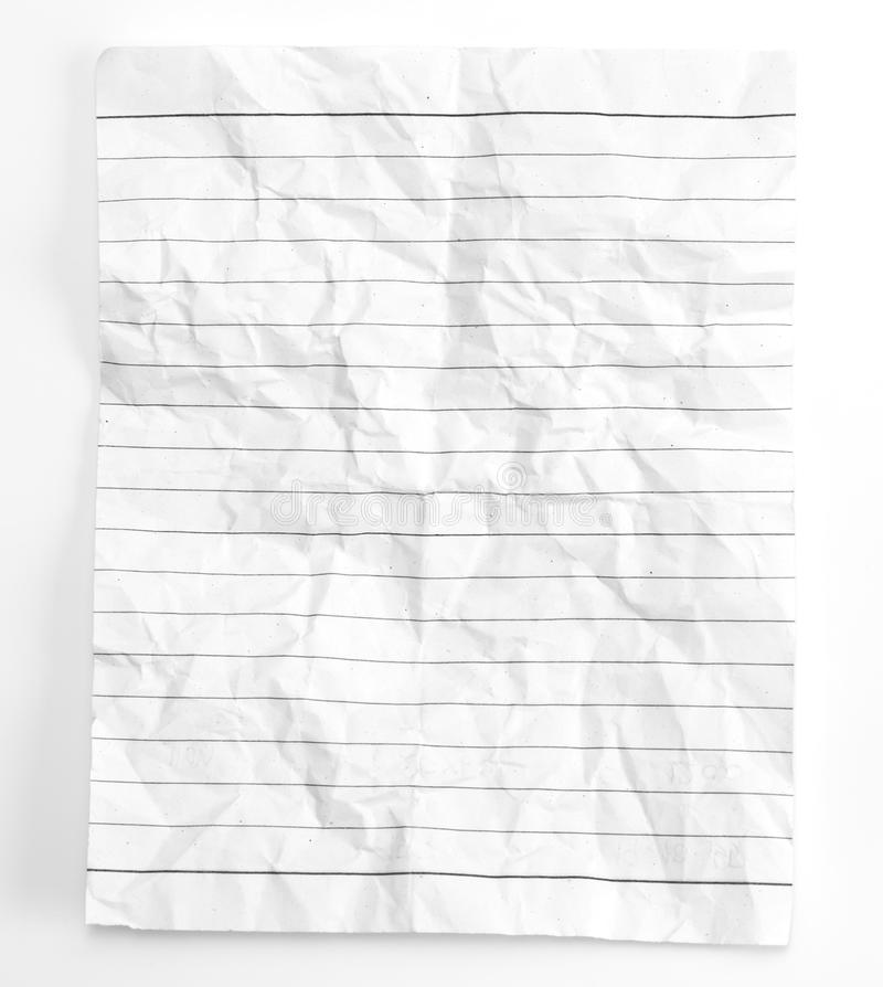 Used Crumpled Notebook Paper Stock Image - Image: 27409177