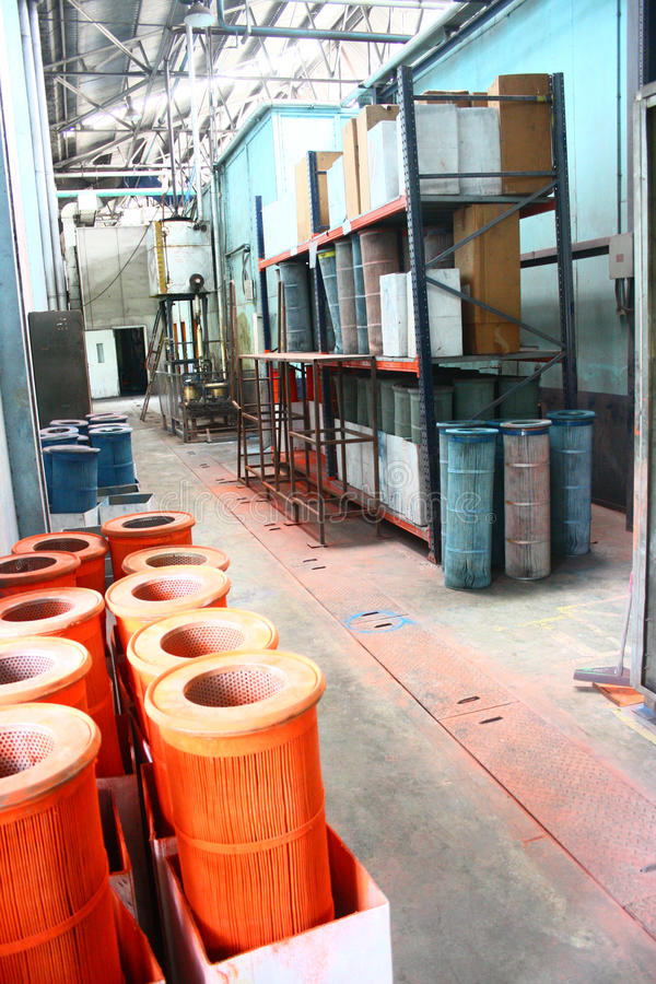 Free Used Dirty Filters Stored On Industrial Hallway Stock Images - 20428474