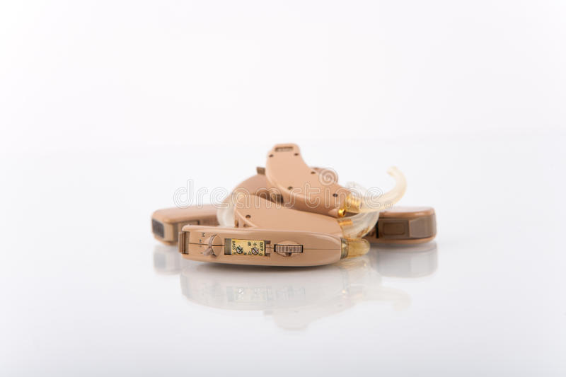 Used hearing aids stock photo