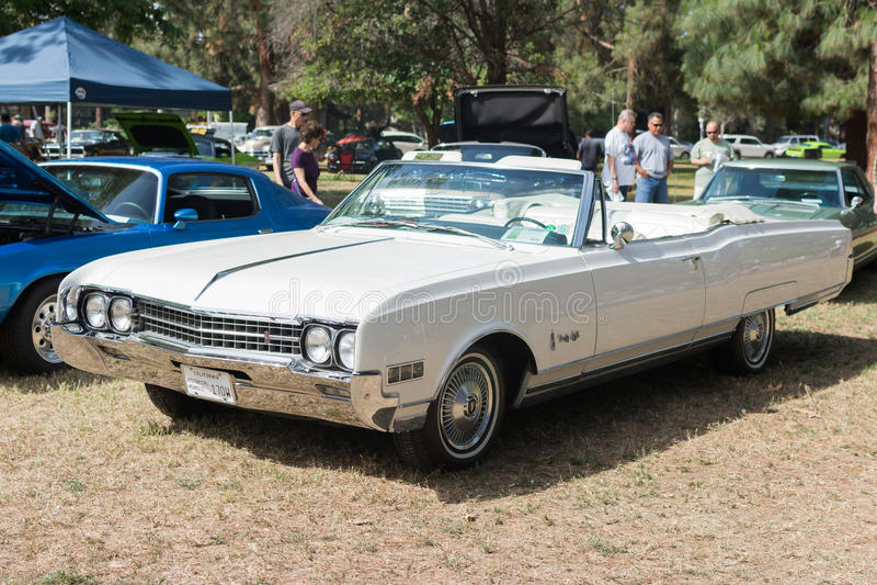 Used Oldsmobile Ninety-Eight car on display stock photos