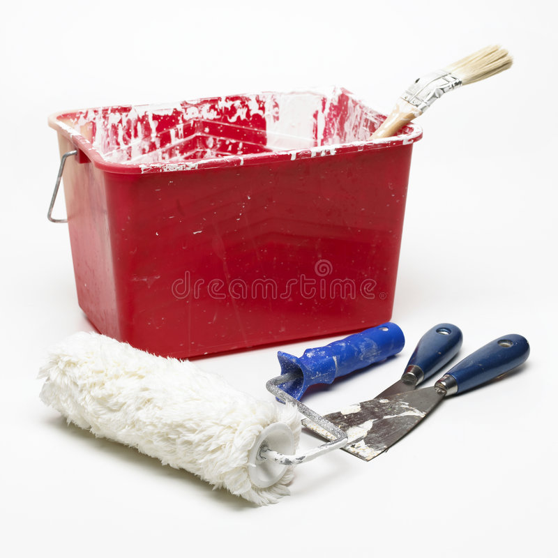 Download Used paint tool stock image. Image of brush, messy, paint - 8411053