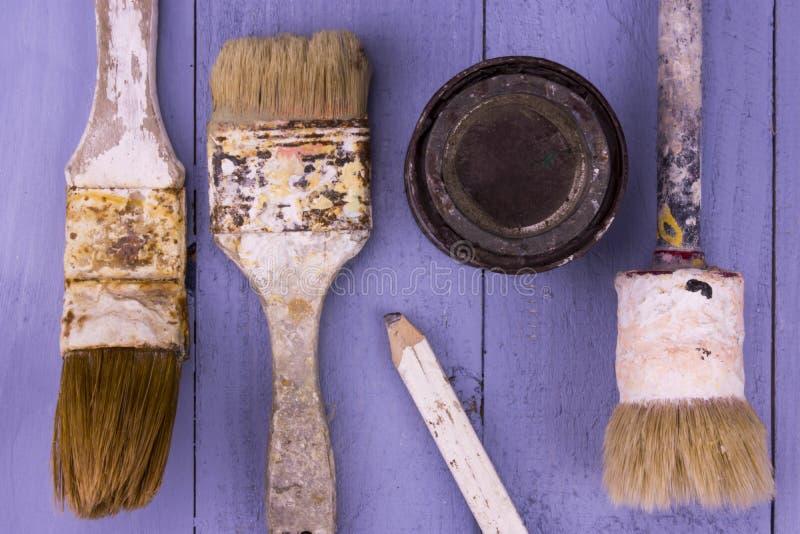 Download Used Paintbrushes Stock Photo - Image: 83723783