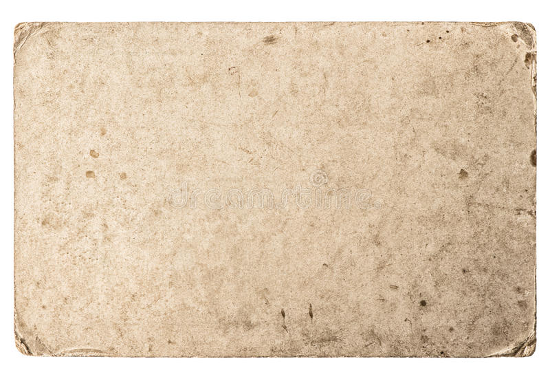Used paper texture. Grungy cardboard worn edges stock photography