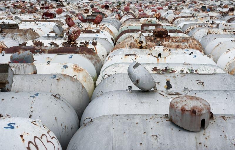 Used propane tanks