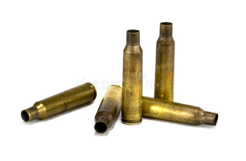 Used rifle ammunition stock image