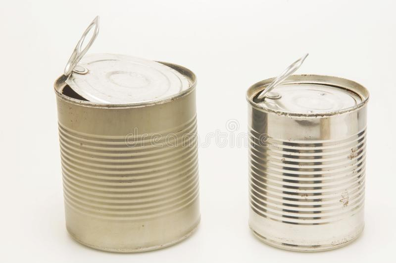 The used and rusty tin can. The financial abstract with used and rusty tin can royalty free stock images