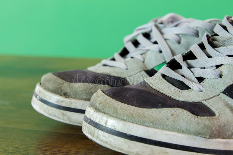 Used shoes stock images