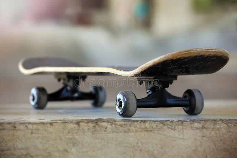 Used skateboard. Photo of a Used skateboard stock image