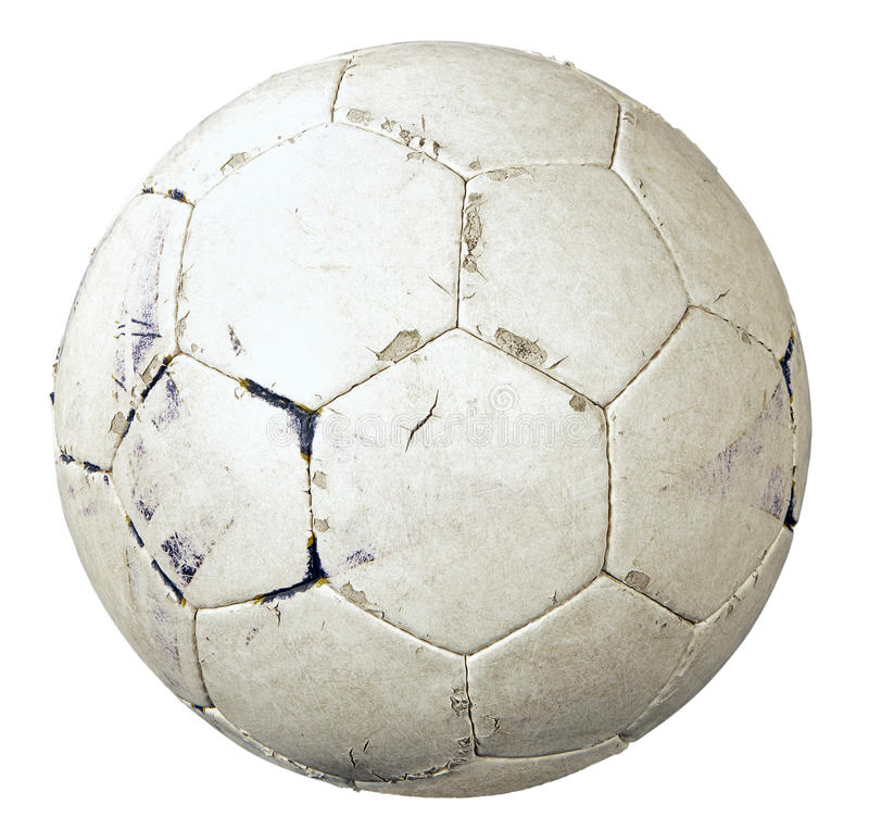 Free Used Soccer Ball Royalty Free Stock Image - 23214766