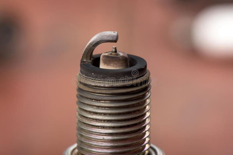Used spark plugs. With soot royalty free stock photography