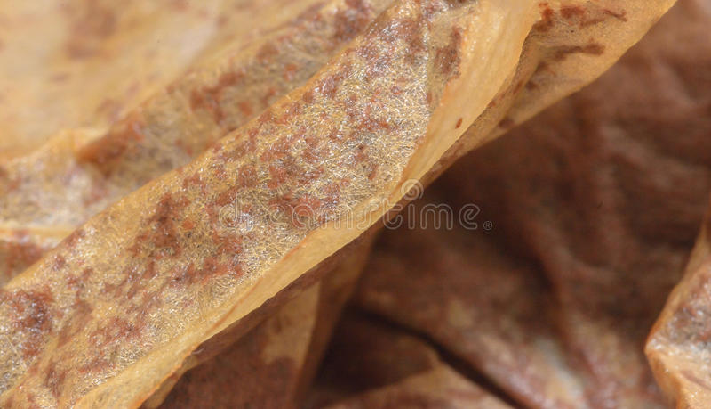 Used Tea Bags Close up A stock image