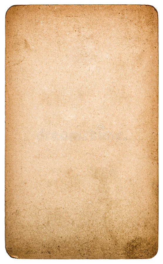 Used textured paper cardboard isolated. Scrapbook object royalty free stock photography