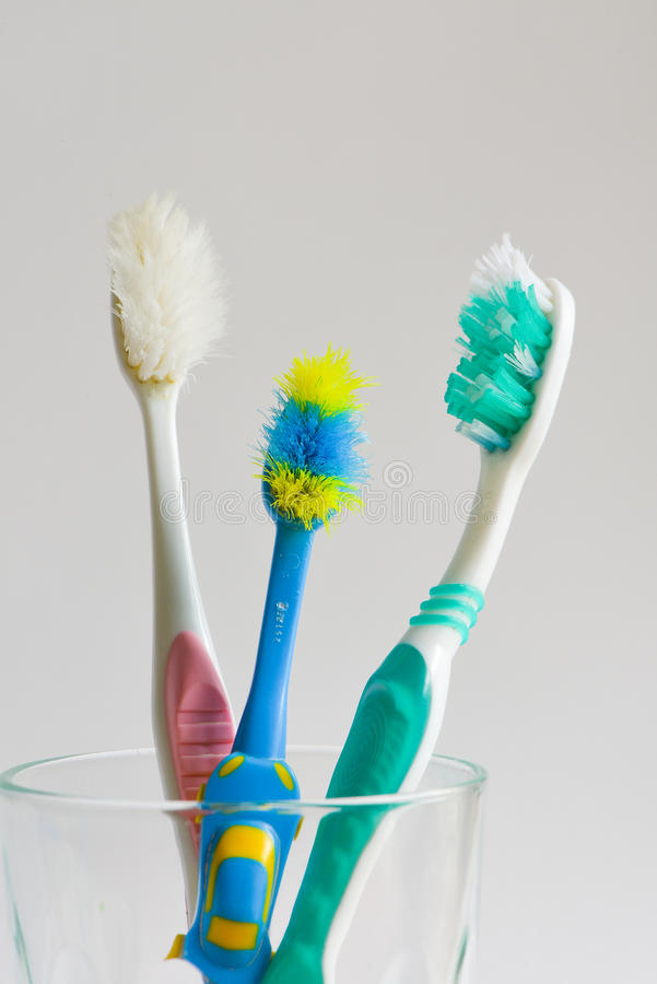 Used toothbrush. Change used toothbrush every 3 months royalty free stock image