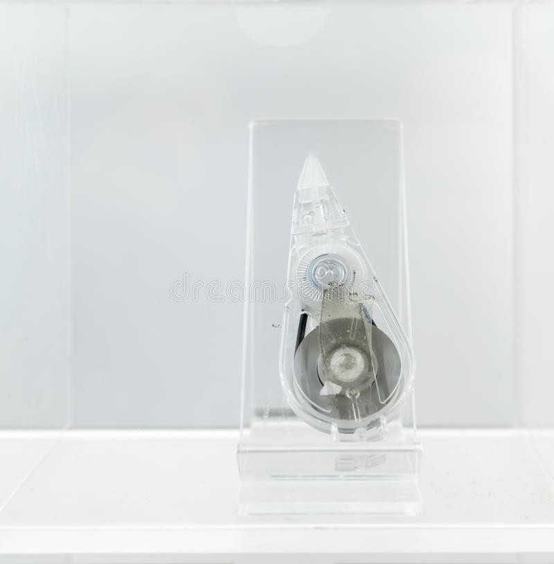 Used transparent correction tape royalty free stock photography