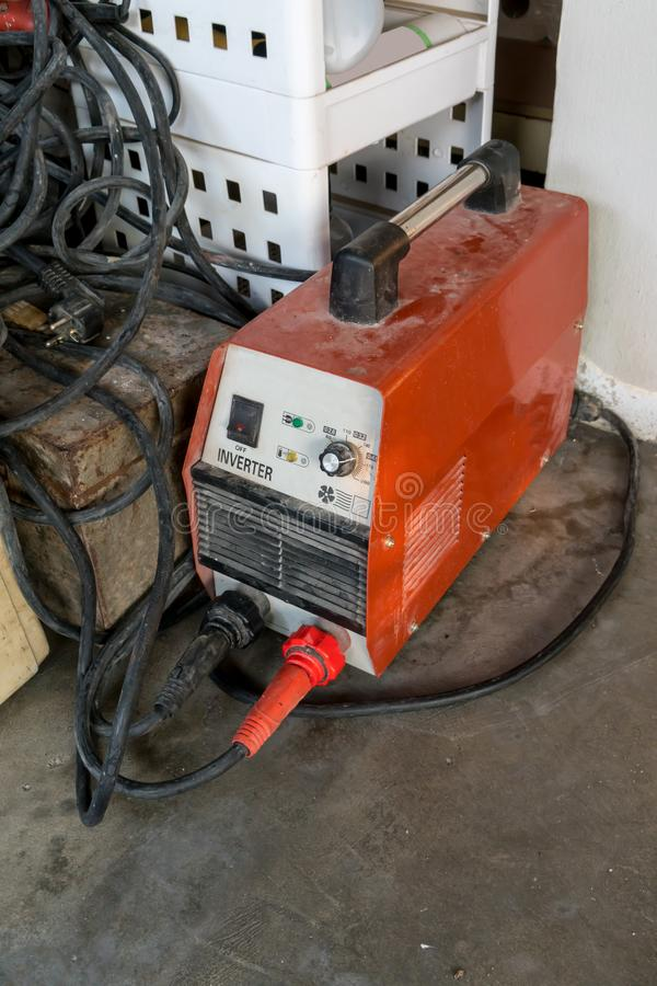 Used Welding Machine with wires. Full Power Mosfet. stock photos
