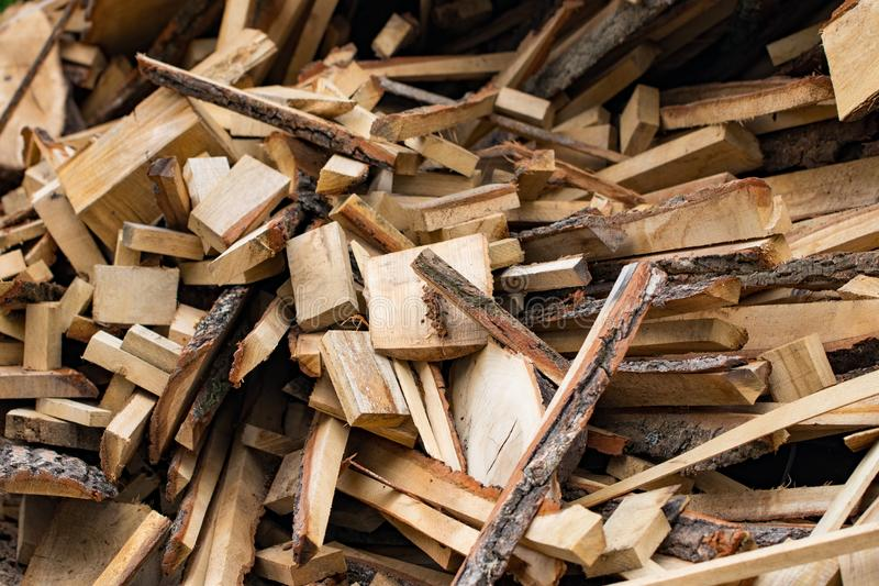 Used wooden boards, bars, slats are a bunch.  royalty free stock photo