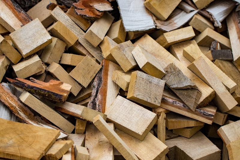 Used wooden boards, bars, slats are a bunch.  royalty free stock image