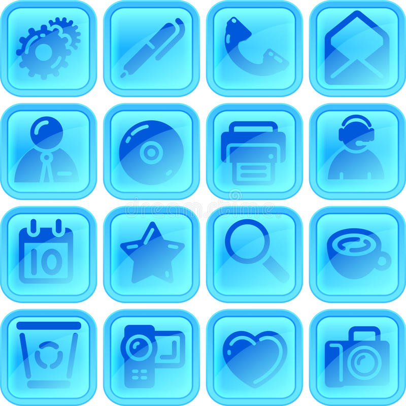 Useful button or icon set vector illustration