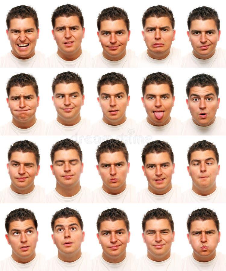 Useful facial expressions stock photos