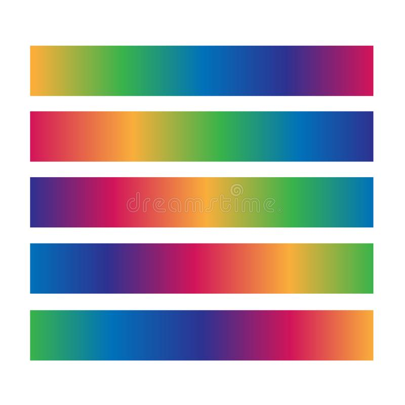 Useful horizontal gradient color bar royalty free illustration