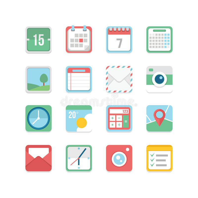 Useful Icon Set stock illustration