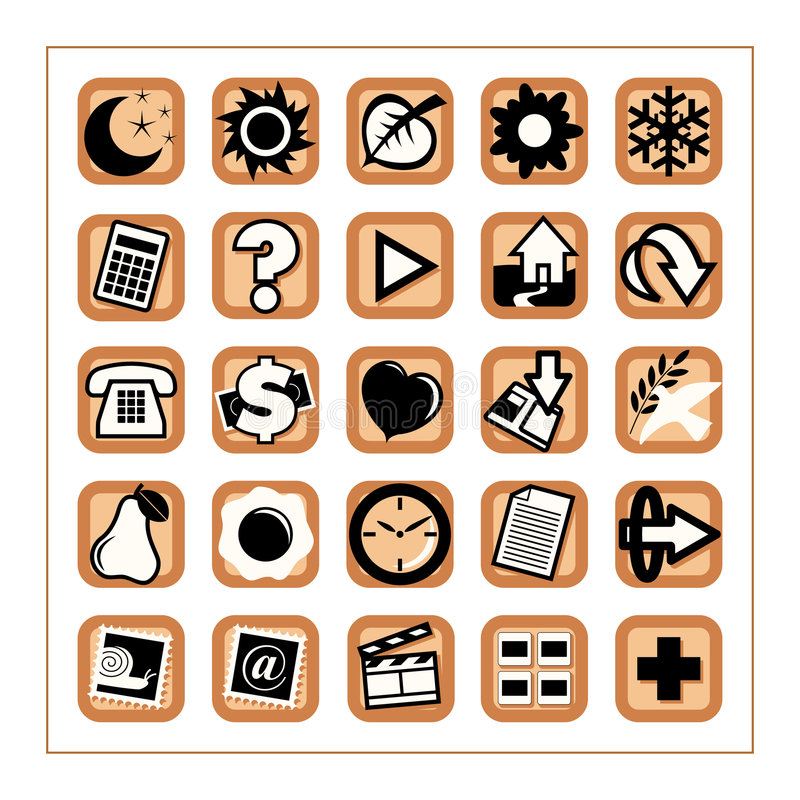 Download Useful Icons 1 - Version 2 stock vector. Image of cash - 361429