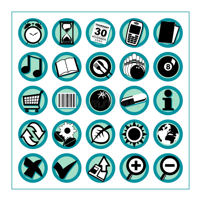 Free Useful Icons 2 - Version 1 Royalty Free Stock Photography - 329827