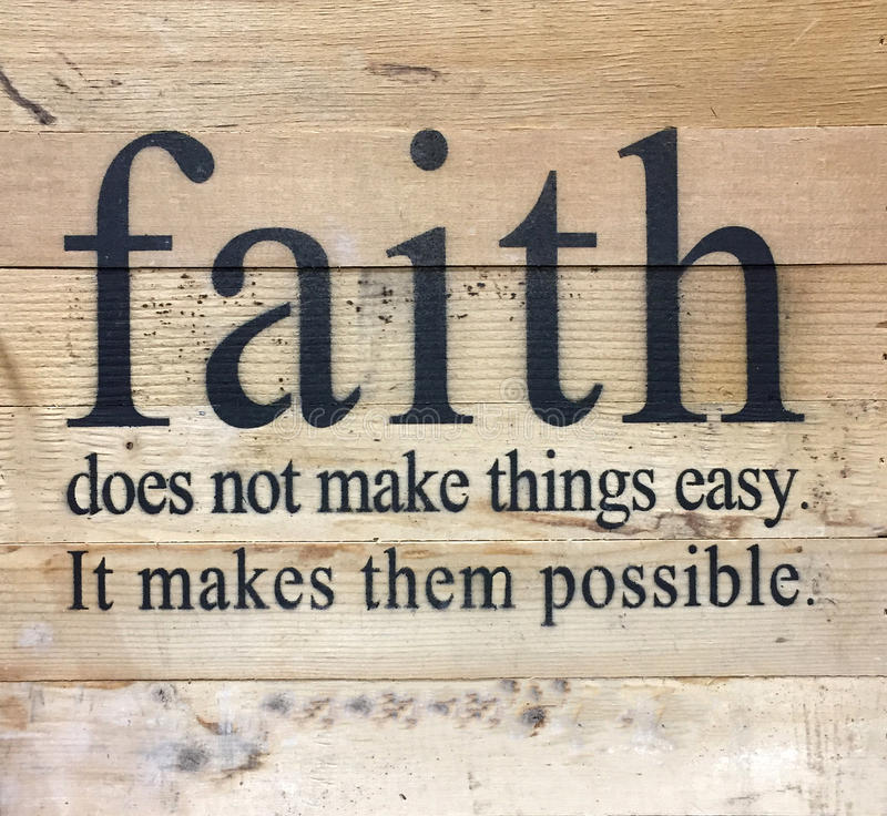 Useful tips about faith stock image