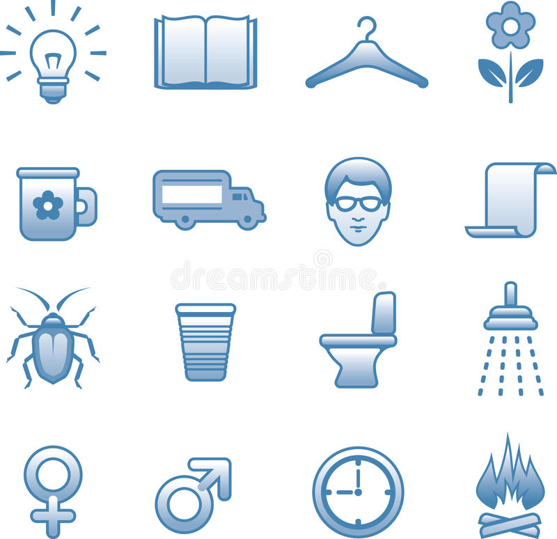 Download Useful Vector Icons Set stock vector. Image of keypad - 9719940