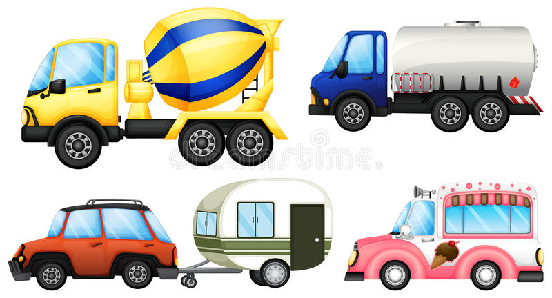 Download Useful vehicles stock vector. Illustration of auto, mobile - 32733023
