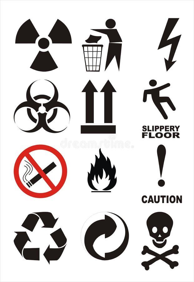 Download Useful Warning Symbols stock illustration. Image of information - 8340937