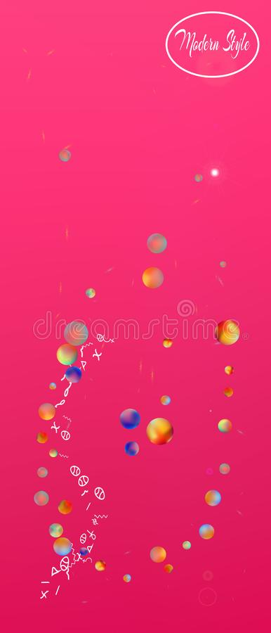 Usefull abstract ultra wide space background royalty free illustration