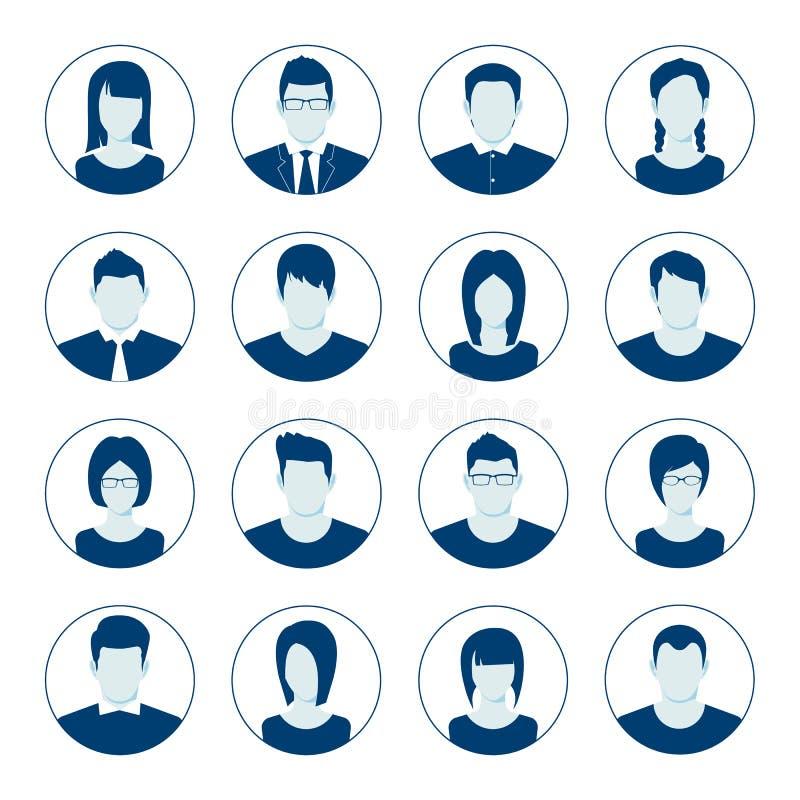 Free User Account Avatar. User Portrait Icon Set. Businessman Portrait Silhouette. Default Avatar Profile Icon Set Royalty Free Stock Image - 123104116