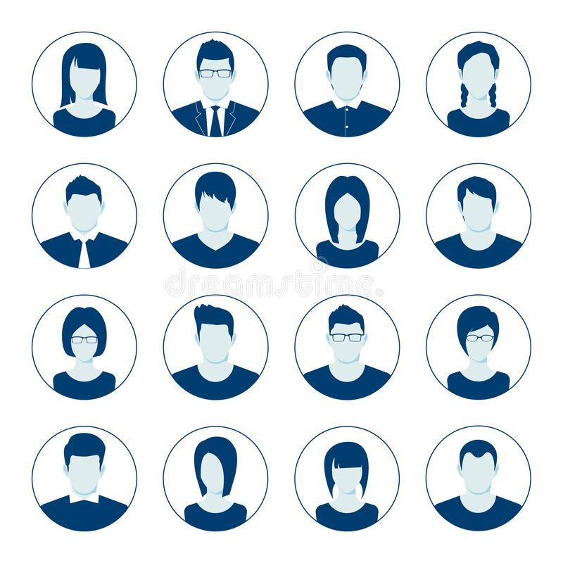 App Or Profile Anonymous User Icon Set  Set Of Female Person