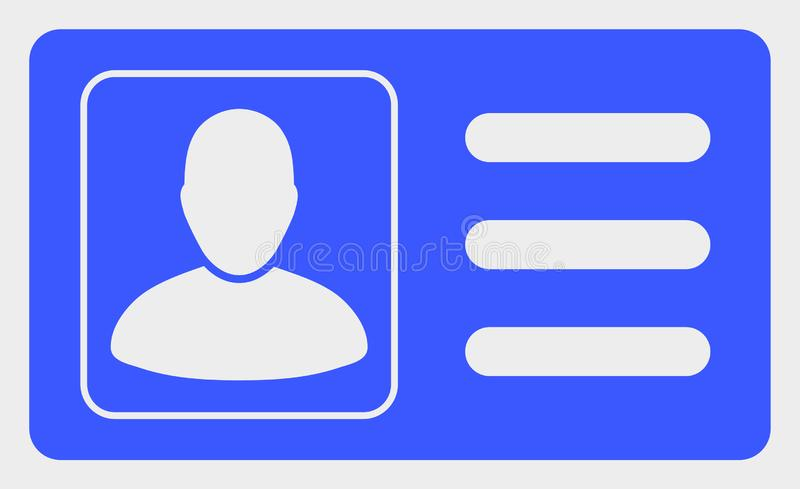 User Account Card Vector Icon Illustration royalty free illustration
