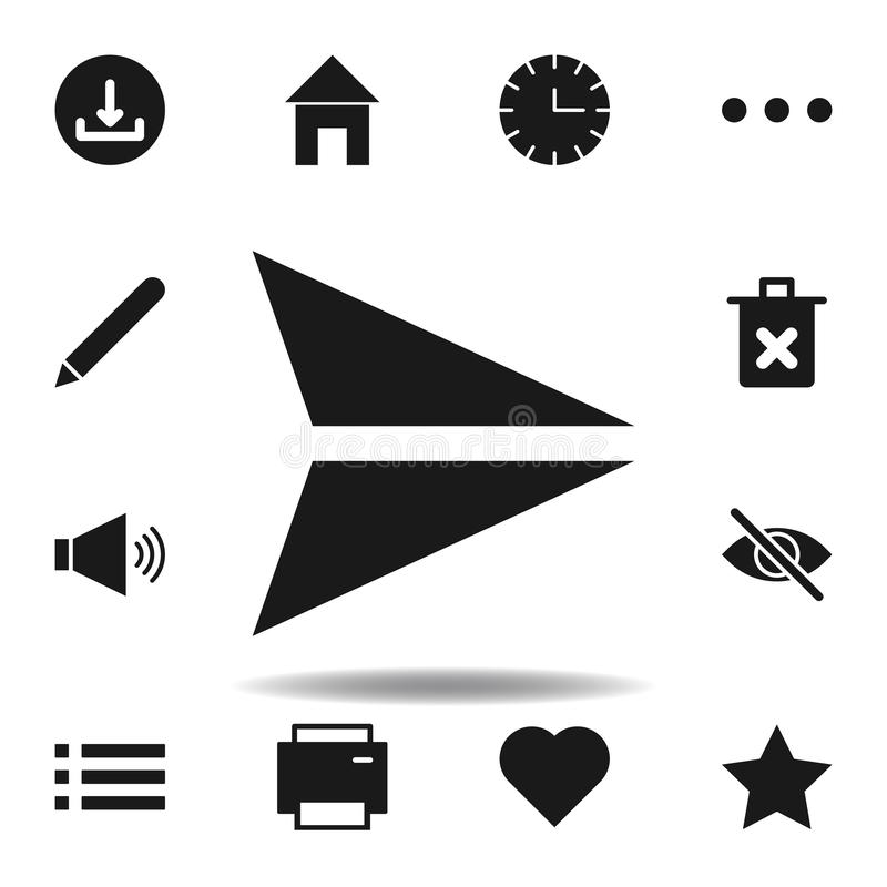 User arrow send icon. set of web illustration icons. signs, symbols can be used for web, logo, mobile app, UI, UX. On white background vector illustration