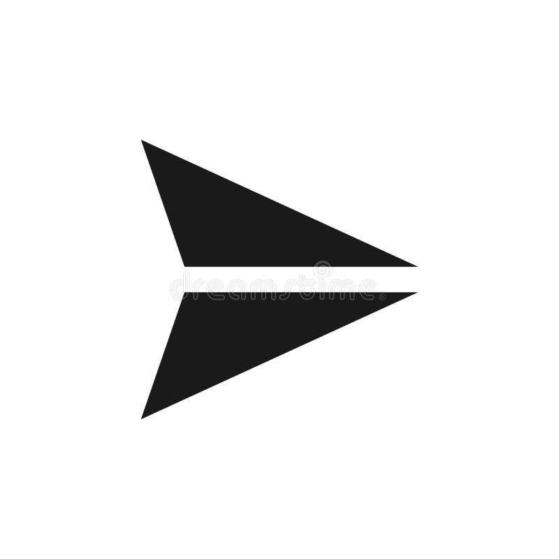 User arrow send icon. Signs and symbols can be used for web, logo, mobile app, UI, UX. On white background royalty free illustration