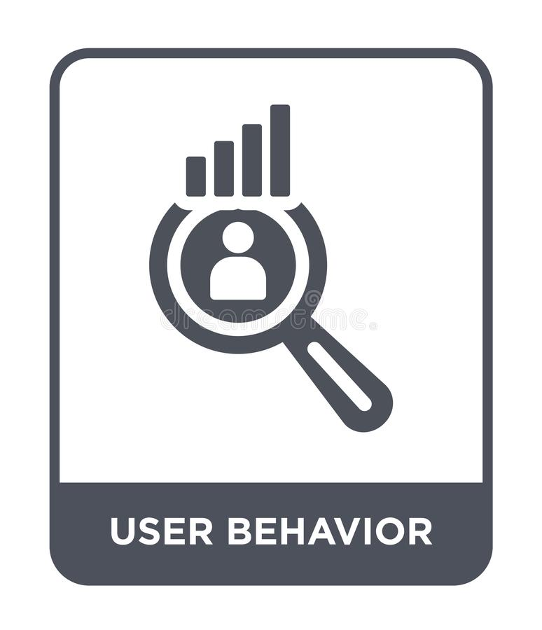 user behavior icon in trendy design style. user behavior icon isolated on white background. user behavior vector icon simple and royalty free illustration