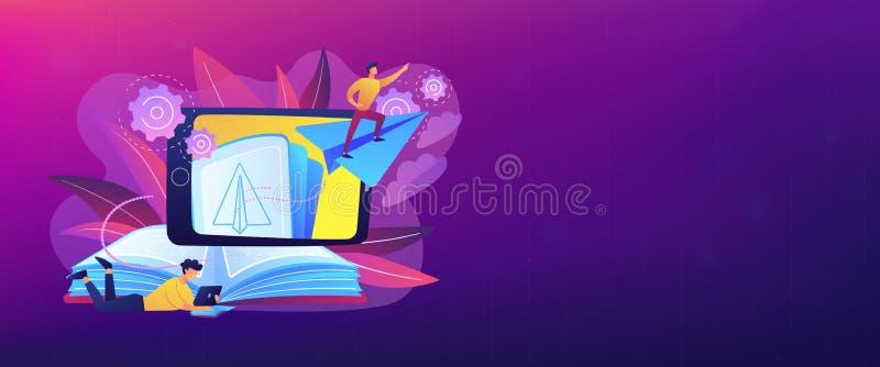 Augmented Reality Books Header Banner Stock Vector Illustration Of Online Mobile 126557951