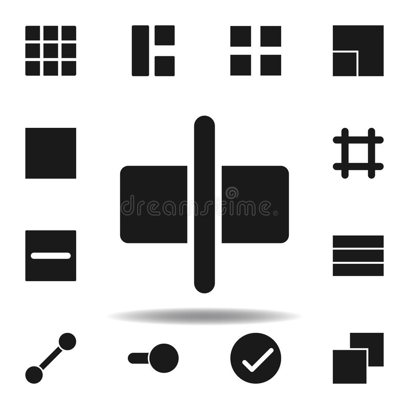 User center align icon. set of web illustration icons. signs, symbols can be used for web, logo, mobile app, UI, UX. On white background royalty free illustration