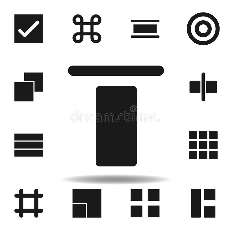 User center align icon. set of web illustration icons. signs, symbols can be used for web, logo, mobile app, UI, UX. On white background vector illustration