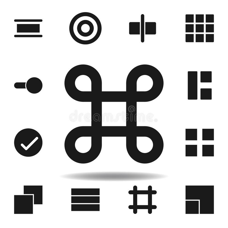 User command cmd icon. set of web illustration icons. signs, symbols can be used for web, logo, mobile app, UI, UX. On white background vector illustration