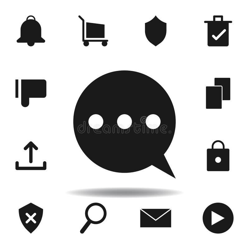 User communication bubble icon. set of web illustration icons. signs, symbols can be used for web, logo, mobile app, UI, UX. On white background stock illustration