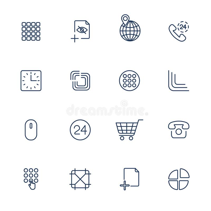 User different Interface Icons vector illustration